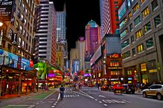 Colorful Time Square