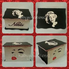 UpCycled Custom Built Piece with Marilyn Monroe Inspiration small