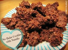 No-bake cookies with Nutella