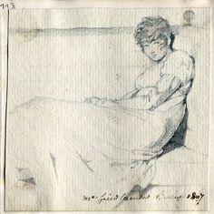 """Rebecca Friedländer (1783-1850) Um 1800 trat sie in Berlin als Salonnière in Erscheinung und veranstaltete als """"Ästhetische Tees"""" bezeichnete Teegesellschaften."""