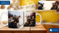 Caneca Interface - Game of Thrones x Lord of Rings.