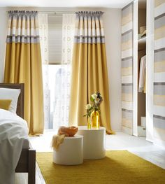 Curtains are one of the most important parts of home improvement design. Different types of curtains may even affect the decorative design style of the whole house. Unique Curtains, Home Curtains, Curtains Living, Modern Curtains, Custom Drapes, Curtains With Blinds, Large Window Curtains, Room Color Schemes, Room Colors