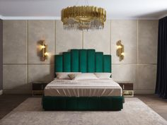 Gigi likes this one better but in a teal color Bed Headboard Design, Bedroom Bed Design, Headboards For Beds, Contemporary Home Furniture, Luxury Home Furniture, Bed Furniture, Master Bedroom Interior, Home Bedroom, Bedroom Decor