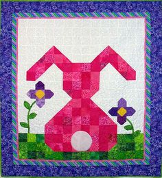 This adorable Bunny wall hanging or small quilt is just perfect for a little girl's room. Just change the colors around for a boy if he does not want a pink bunny. Bunny.JPG 600×662 pixels