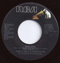 Rich Girl / Daryl Hall & John Oates / on Billboard 1977 Music Tv, Dance Music, Music Songs, Kinds Of Music, I Love Music, Good Music, Old Records, Vinyl Records, John Oates