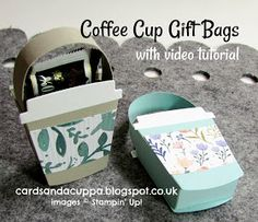 Hello there, I knew these coffee cups dies would make awesome little gift bags as soon as I saw them in the new catalogue! You may have s...