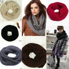 $4.30 Warm Knit Wool Scarf Shawl Circle Neck Round Chunky Wraps Scarves