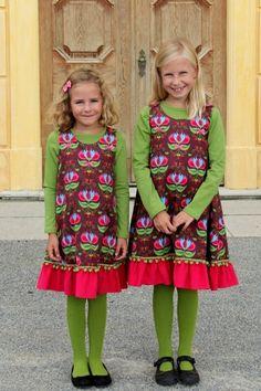 Kleid Tulip Brown & Shirt langarm Grün ♥ Herzilein Wien ♥ #herzileinwien