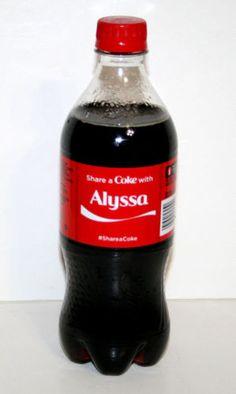 Share-a-Coke-Bottle-ALYSSA-Coca-Cola-20-Oz-Ounce-2014-Limited-Edition