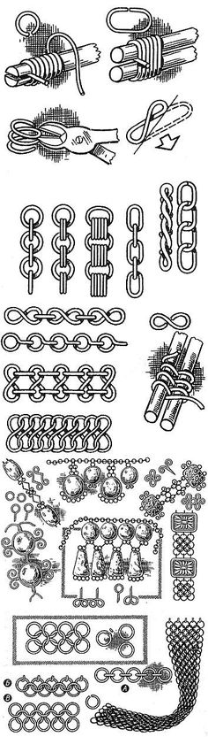 Ремесла. Плетение из проволоки. Височные кольца. Подвески. Перстни. Браслеты. Цепочки. Кольчуги