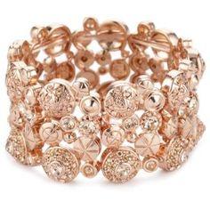 """LK Designs """"Summer Breeze"""" Rose Gold Colored Sahara Bracelet."""