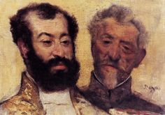Double portrait of General Mellinet and the Chief Rabbit Astruc by Degas, owned by Charles.