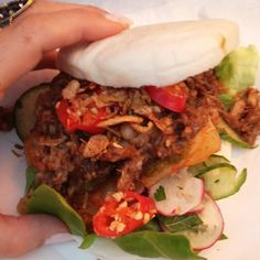 Spicy pulled pork bao bun from @camdenmarket #foodporn #foodblogger #London