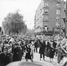 Rijnstraat in Amsterdam, Noord-Holland bevrijding 1945