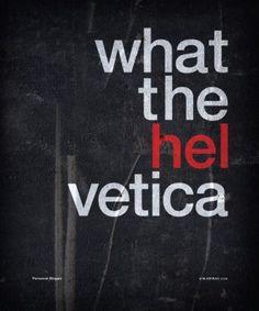 Helvetica love.