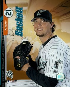 Josh Beckett of Baseballs management Underwood family Josh Beckett, Miami Marlins, Miami Florida, Wwe, Baseball Cards, Athletes, Sports, Management, Hs Sports