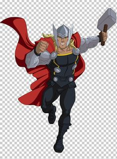 Thor Cartoon Marvel Cinematic Universe Marvel Animation Comics PNG - Free Download