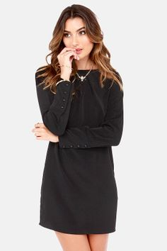 Shift Into Gear Black #Shift #Dress  Get 7% Cash Back http://www.studentrate.com/itp/get-itp-student-deals/lulu-s-Student-Discount--/0