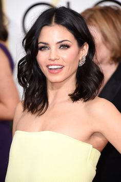 Zoom in on the Best Accessories at the Golden Globes: Amber and diamond earrings for Jenna Dewan Tatum.