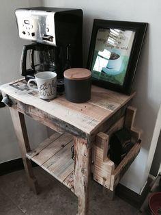 Handmade Coffee Bar From Reclaimed Pallet Wood