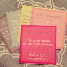 Bible Verse lunch printables - these would be great to include with your letters to your sponsored children
