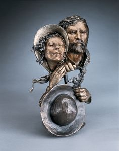 Back to the Land- A bronze sculpture by Mark Hopkins 14x10