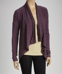 Take a look at this Napa Grape Open Cardigan by American Buddha by Yogi on #zulily today!