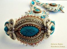 """Bransoletka sutasz (soutache)  """"Madame Pompadour"""""""" w Galeria Bajka Soutache Jewelry na DaWanda.com"""