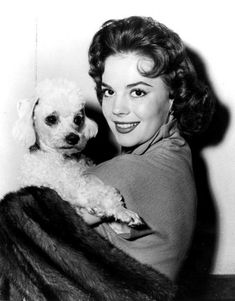 Natalie Wood and poodle.