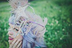 hair/makeup: Sara Buteaux/photographer: Erayphotography/ vintage mardi gras head peice/Laurel Valley Shoot : Vintage Mardi Gras {Thibodaux, LA}