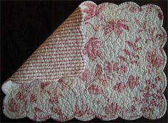 Quilted Placemats with Matching Napkins | Dreams of Quilting ... : country quilted placemats - Adamdwight.com