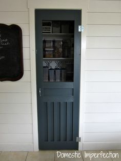 Way back in February, when I organized mypantry, I mentioned that I was looking for an old screen door to replace our current pantry door.I looked for an old screen door for a while, then a new o...
