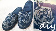 Тапочки из джинсов. Как сшить тапочки легко и просто. Джинсовые тапочки ... Denim Shoes, Slippers, Flats, Couture, Diy, Fashion, Ideas, Totes, Repurpose