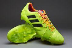 adidas Football Boots - adidas Nitrocharge 1.0 TRX FG - Firm Ground - Soccer Cleats - Solar Slime-Black-Solar Zest