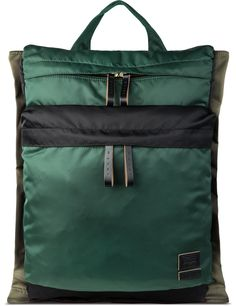 Shop MARNI Green Marni X Porter Color Blocking Backpack at HBX. Free Worldwide Shipping available.