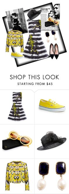 """""""Stripes"""" by anet-ko on Polyvore featuring Coast, Vans, Crap, Philip Treacy, Givenchy, Giambattista Valli and Chanel"""