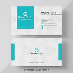 Blue and white business card - Graphic Hit Dental Business Cards, Make Business Cards, Business Cards Layout, Modern Business Cards, Business Card Design Inspiration, Business Design, Visiting Card Design, Name Card Design, Bussiness Card