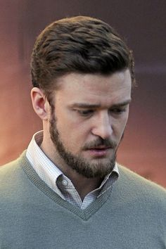 JTlake still looks really Hot here with this beard and hair, Justin Timberlake Films 'Inside Llewyn Davis' in NYC