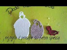 Presepe feltro e gomma crepla con base in legno - YouTube