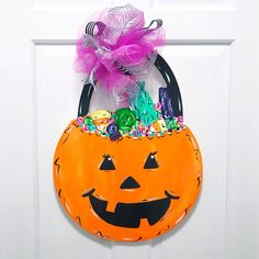 Weekend Projects, Diy Projects, Halloween Jack, Fun Challenges, Painted Doors, Front Door Decor, Paint Party, Learn To Paint, How To Make Wreaths