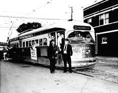 The last streetcar, 1958: Car 7213 rolls into the history books as the last Chicago streetcar. At one time, the city had the largest street railroad system in the world.