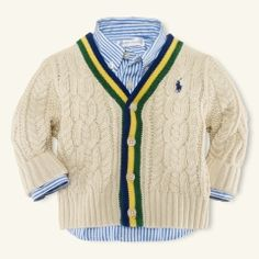 Your baby is now prepared for uni with this adorable preppy cardigan!