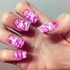  Nail art  #nailart #nails #pink #camouflage