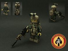 Lego Custom Minifig Drill Sargeant Soldier with baton