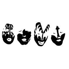 Kiss Band Faces Laptop Car Truck Vinyl Decal Window Sticker PV197
