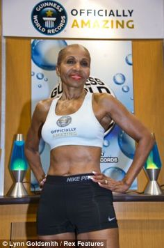 'Officially amazing': 74 year old Ernestine Shepherd was added to the 2012 Guinness World Record book as the oldest female body builder
