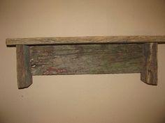 Reclaimed Gray Wood Shelves Rustic Pair 18 Wide 4 Deep