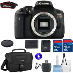 CANON EOS REBEL T6i BODY KIT WITH ORIGINAL CANON CASE