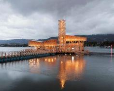 Pabellón de reflejos, en el lago de Zúrich