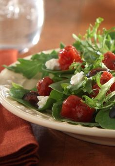 In just 10 minutes, this easy and healthier Mediterranean Salad recipe is ready for dinner!